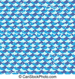 Seamless grunge pattern with waves.