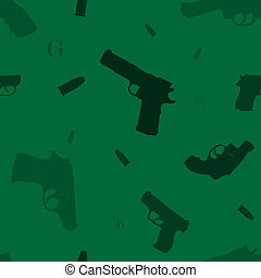 Seamless guns pattern green