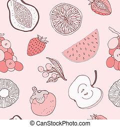 seamless, háttér, gyümölcs