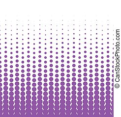 Seamless halftone background with violet color. Vector illustration