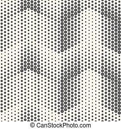 Seamless Halftone Pattern. Vector Black and White Geometric Background