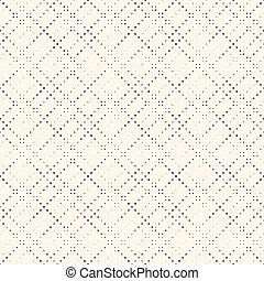 Seamless Halftone Pattern. Vector Black and White Pixel Minimalistic Background