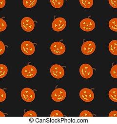 Seamless Halloween background with pumpkin