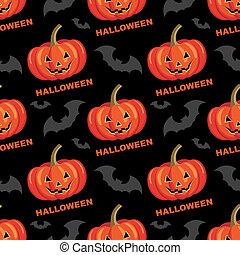 Seamless halloween pattern.