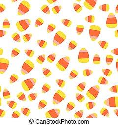 Seamless halloween pattern with corn