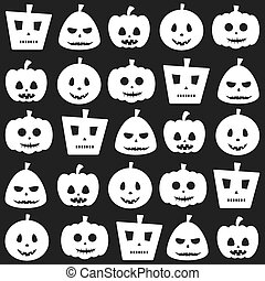 Seamless Halloween Pumpkin Pattern Background