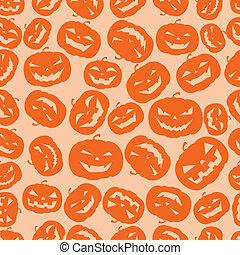 Seamless Halloween pumpkins background