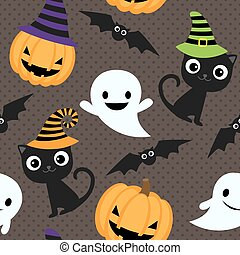 halloween vector pattern