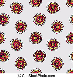 seamless hand drawn abstract doodle pattern