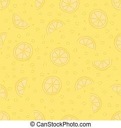 seamless hand drawn lemon pattern background