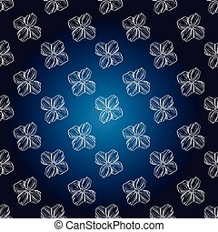Seamless hand drawn pattern, dark blue background , vintage design, vector illustration
