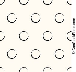 Seamless hand-drawn pattern with bubbles. Vector illustration