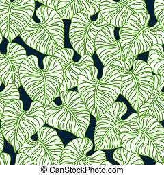 seamless, handfläche, muster, leaves.