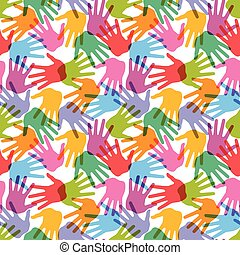 Seamless handprint pattern