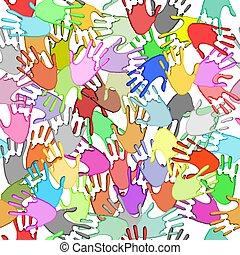 seamless, handprints