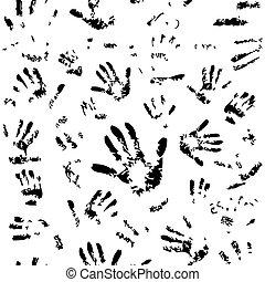 Seamless hands pattern