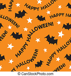 Seamless Happy Halloween - A seamless Halloween pattern with...