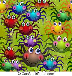 Seamless Happy Spider Paper