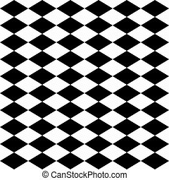 Seamless harlequin pattern-black and white - Seamless...