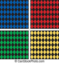 Seamless Harlequin Patterns