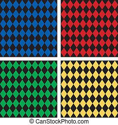 Seamless Harlequin Patterns