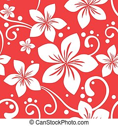 Seamless Hawaiian Christmas Pattern - Illustration of a...