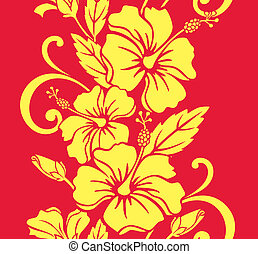 Seamless Hawaiian Hula Pattern - Illustration of a seamless...