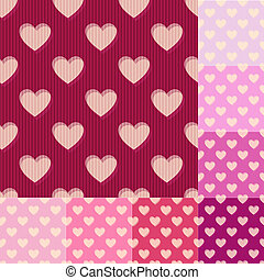 seamless heart background pattern - seamless red, pink heart...