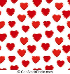 Seamless heart background pattern