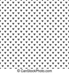 Seamless heart pattern background - love concept design