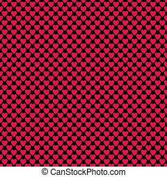 Seamless heart pattern background - vector love concept design