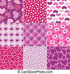 seamless heart pattern for valentin