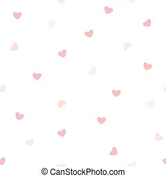 seamless heart pattern on white background, vector