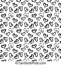 Seamless heart pattern.
