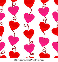Seamless heart shape pattern