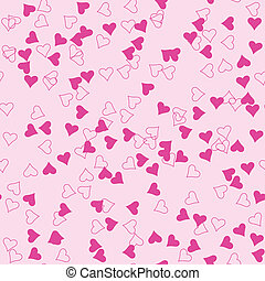 Seamless heart shapes