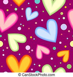 Seamless heart texture