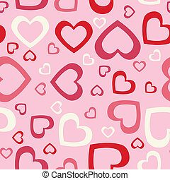 Seamless hearts background.
