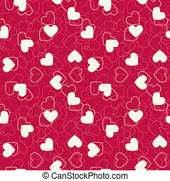 Seamless hearts background. Vector illustration. Consists of four separate seamless parts.