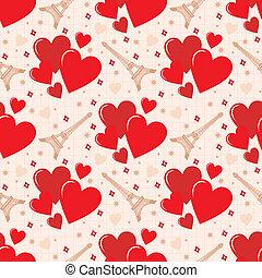 Seamless hearts pattern