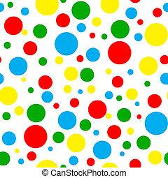 seamless, helder, multi, polka punt