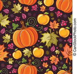 seamless, herfstachtig, achtergrond, 2