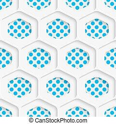 Seamless Hexagon Design. Futuristic Tile Pattern. 3d Elegant...
