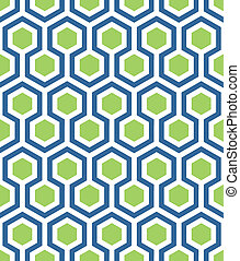 seamless hexagon in blue green