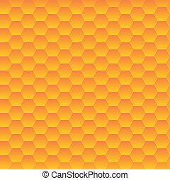 Seamless hexagonal cells vector texture. Honeycombs pattern.