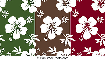 seamless hibiscus fabric pattern