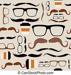 Seamless Hipster Pattern Background