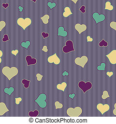 seamless, hjärtan, &, stripes
