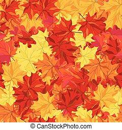 seamless, hojas del arce del otoño