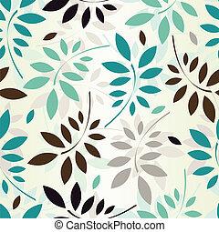 seamless, hojas, papel pintado